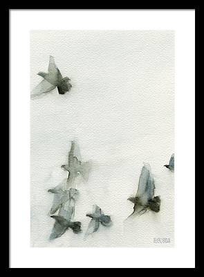 Flying Birds Framed Prints