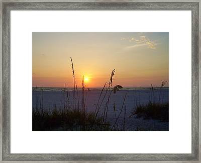A Florida Sunset Framed Print