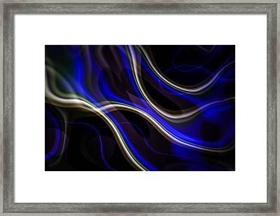 A Flow Of Blue Framed Print