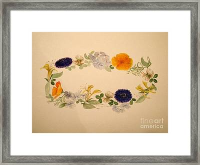 A Flower Circle Framed Print