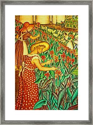 A Flower Harvest Framed Print