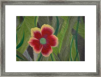 A Flower In The Jungle Framed Print