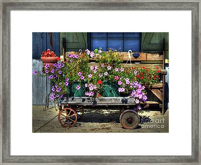 A Flower Wagon Framed Print
