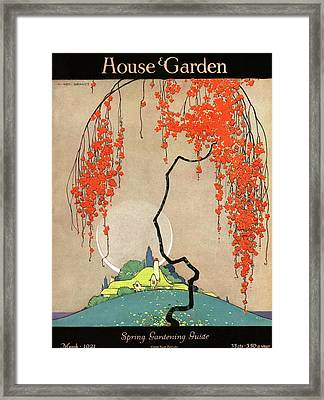 A Flowering Tree Framed Print by H. George Brandt