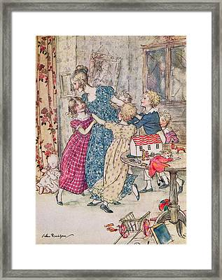 A Flushed And Boisterous Group, Book Illustration  Framed Print by Arthur Rackham