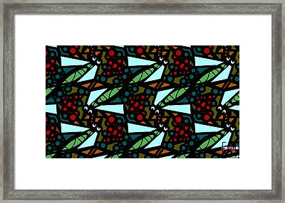 Framed Print featuring the digital art A Fly Of Sorts And Berries by Elizabeth McTaggart