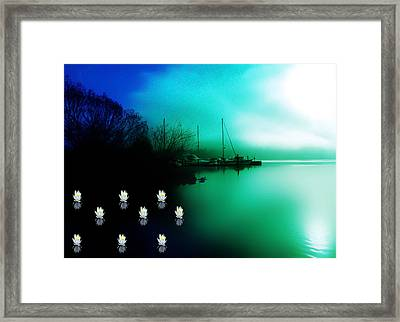 A Foggy Day At Log Boom Park On Lake Washington Framed Print