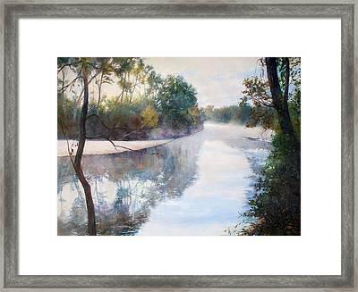 A Foggy Day Framed Print by Nancy Stutes