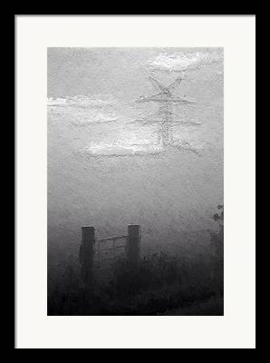 Foggy Day Mixed Media Framed Prints