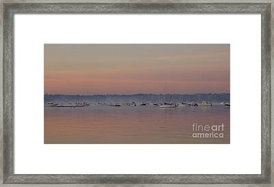 Framed Print featuring the photograph A Foggy Fishing Day by John Telfer