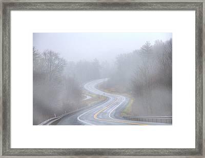 A Foggy Start Framed Print by Sharon Batdorf