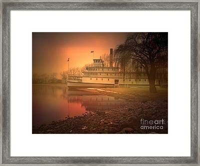 A Foggy Sunrise Framed Print by Tara Turner