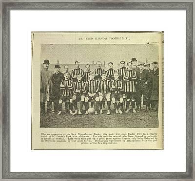 A Football Team Framed Print