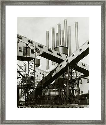 A Ford Automobile Factory Framed Print by Charles Sheeler