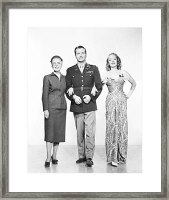 A Foreign Affair, From Left Jean Framed Print by Everett