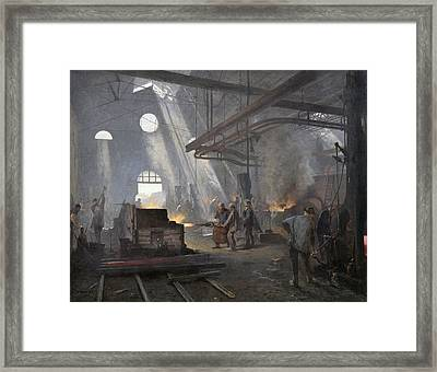 A Forge, 1893  Framed Print by Fernand Cormon