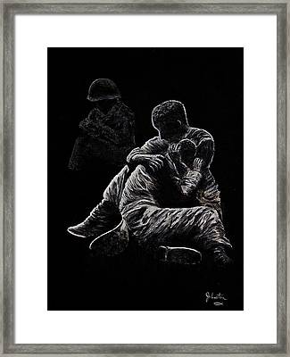 My Friend Killed In Korean War Framed Print by Bob Johnston