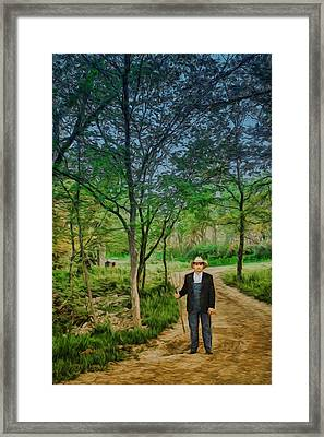 A Fork In The Road Framed Print by Nikolyn McDonald