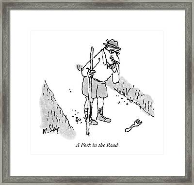 A Fork In The Road Framed Print by William Steig