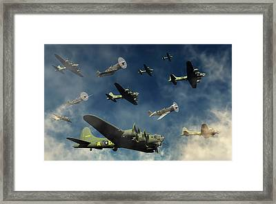 A Formation Of B-17 Flying Fortress Framed Print