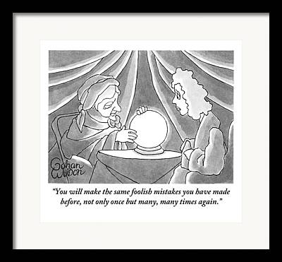 Fortune Teller Drawings Framed Prints
