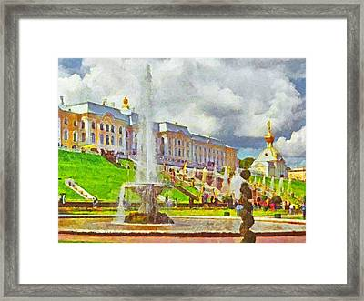 A Fountain At Peterhof Framed Print