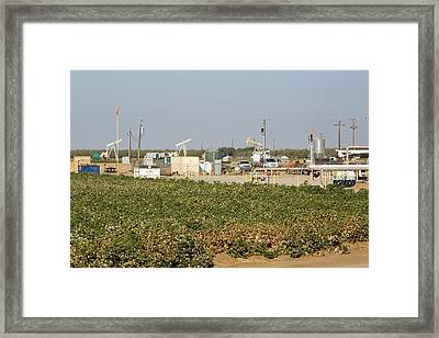 A Fracking Site Near Wasco Framed Print by Ashley Cooper