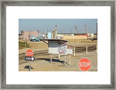 A Fracking Truck Framed Print