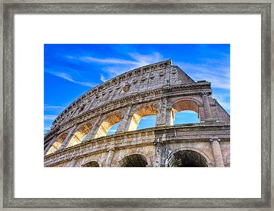 A Fragment Of Rome's Glory - Colosseum Framed Print by Mark E Tisdale