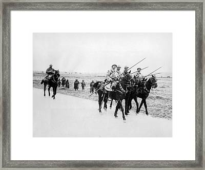 A French Cavalry Patrol Framed Print by Underwood Archives