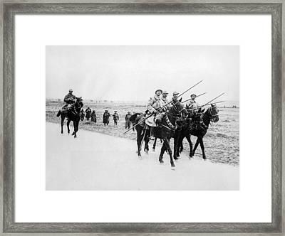 A French Cavalry Patrol Framed Print