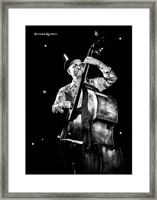 Framed Print featuring the photograph A French Contrabass Player by Stwayne Keubrick