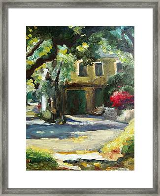 A French Cottage Framed Print