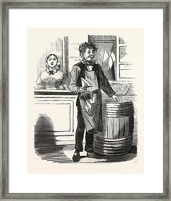 A French Food Shop, Europe Framed Print by French School