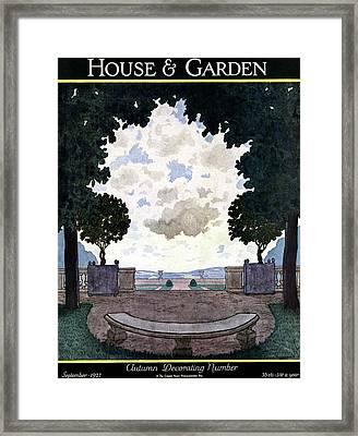 A French Formal Garden Framed Print