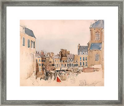 A French Market Place Framed Print by Mountain Dreams
