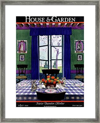 A French Provincial Dining Room Framed Print
