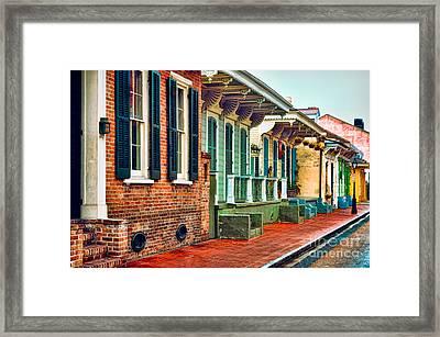 A French Quarter Street - Digital Painting Framed Print by Kathleen K Parker