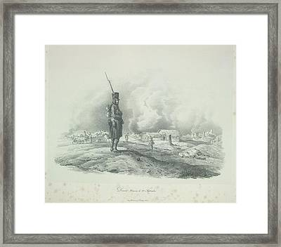 A French Sentry Framed Print by British Library