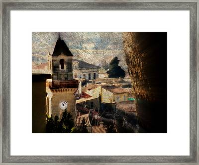 A French Village Framed Print by Tina Concetta Marzocca