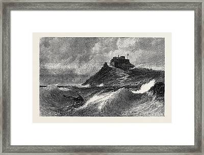 A Fresh Gale Mount Orgueil Jersey Framed Print by English School