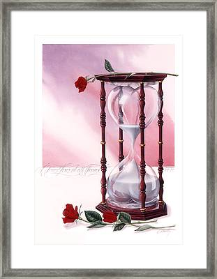 A Friend Loves At All Times Framed Print by Cliff Hawley