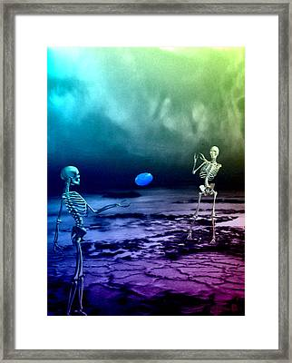 A Friendly Game Of Frisbee Framed Print