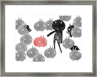 A Friendly Visit To The Bunnyland Framed Print by Yoyo Zhao