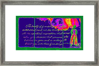 A Friendship Letter Framed Print by Angela L Walker