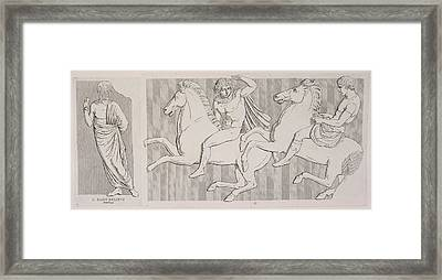 A Frieze Framed Print by British Library