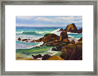 Framed Print featuring the painting A Frouxeira Galicia by Pablo Avanzini