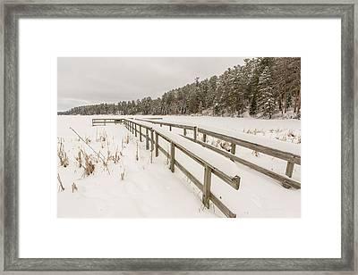 A Frozen Dock Framed Print by Tim Grams
