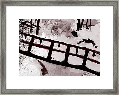 A Frozen River Framed Print by Shelley Bain