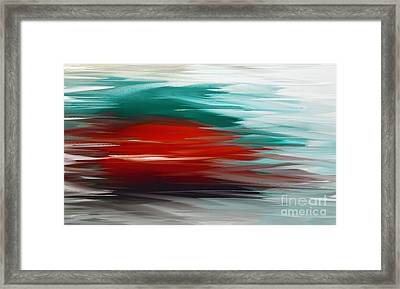 A Frozen Sunset Abstract Framed Print by Andee Design